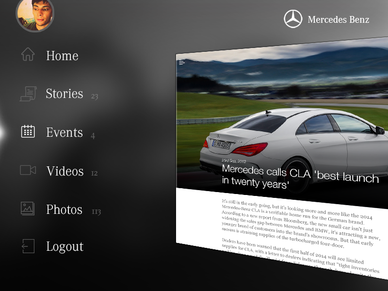 Mercedes Benz - Magazine mercedes benz car ios ipad magazine