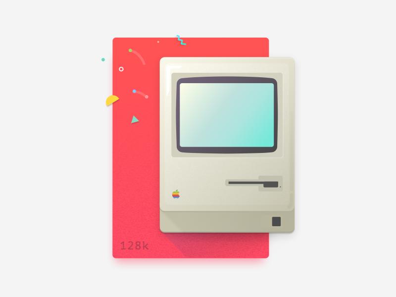 Macintosh 128K 3d illustration computer jobs steve mac iconic product design industrial apple macintosh