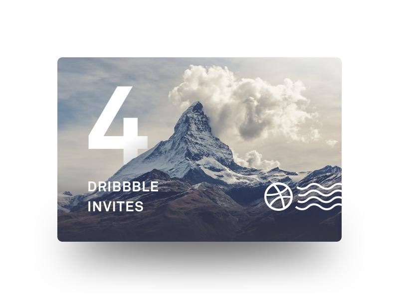 Dribbble Invites shadow card unsplash postage giveaway freebie dribbble invite