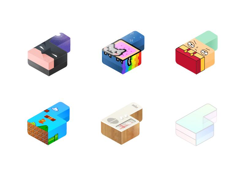 Dynamic branding for http://bil.al 3d icon portfolio logo illustration branding identity