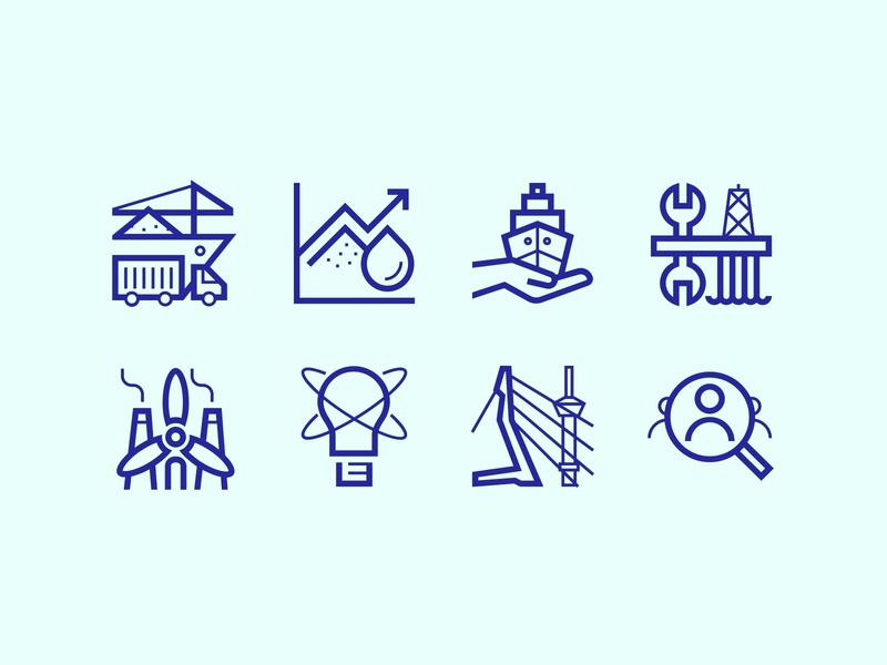 Rotterdam Maritime Capital of Europe Icons symbols icons maritime rotterdam icon design