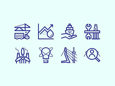 Rotterdam Maritime Capital of Europe Icons symbols icons maritime rotterdam icon design