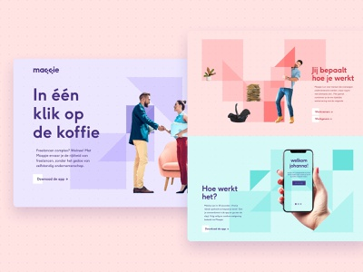 Maqqie Landing Page website webdesign abstract square graphic landing page identity branding