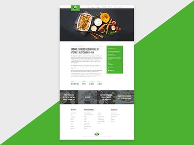 Recipe recipe food web ui flat responsive