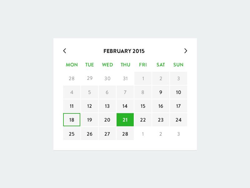Calender UI flat calender ui date picker date picker minimalism web web design