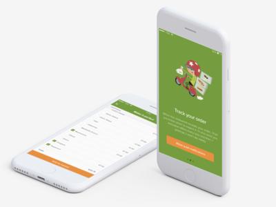 Food ordering app app design ios mobile order flow customizing onboarding