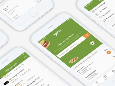 Food ordering app lists search restaurant app native ios mobile ordering food