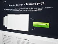 Freebie - A free landing page design