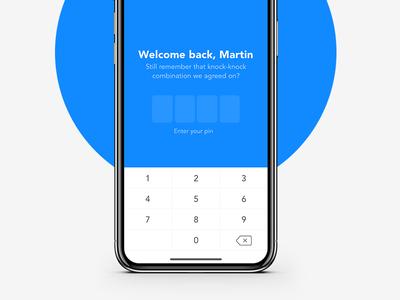 Login screen app design sign in pin code ios11 native ios mobile login iphone x