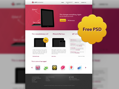 Free Web Design By Martin Fabricius Dribbble