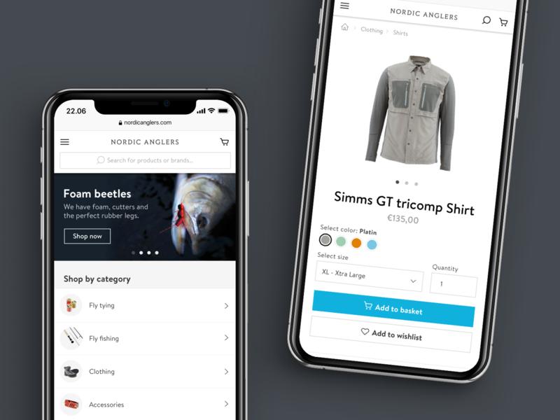 Mobile eCommerce product page web shop shop fishing mobile shopping mobile ecommerce shopping