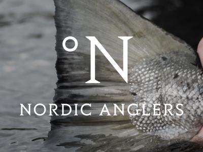 Logo fishing minimal scandinavian nordic identity logo
