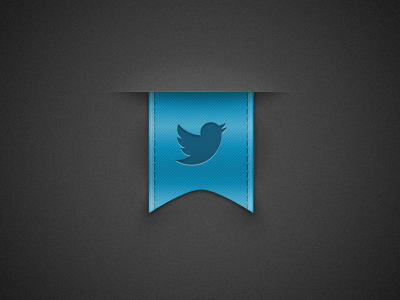 Twitter Ribbon - Rebound rebound twitter ribbon grain noise blue stitches twitter logo ui dark button