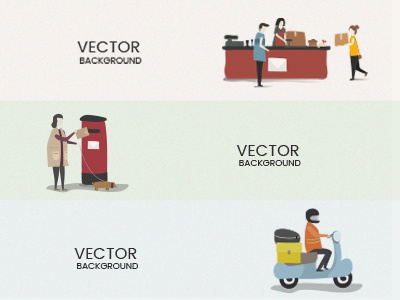 delivery send express logistic post office mail postman illustration service delivery mailbox letter