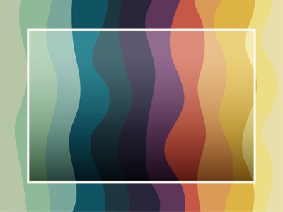 White frame colorful wave pattern background