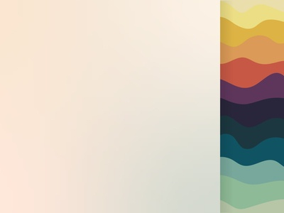 Mockup colorful wave pattern background vector