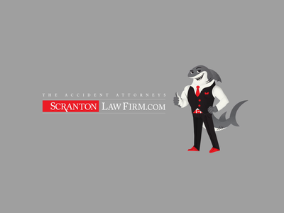 Scranton logo intro gray character animation simple chill music fish red shark walk cycle confident sexy after effects character typeface logo illustration motion vector animation 2d