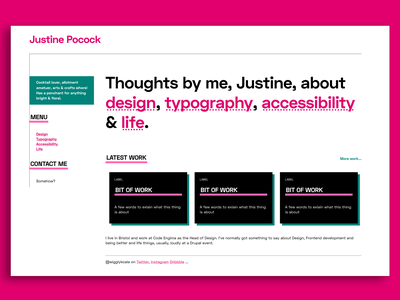 New Site - mebbe web typography design