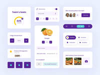 UI elements restaurant management app app design purple elements colorful ui