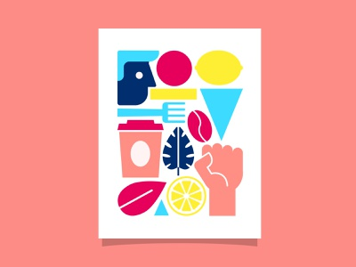 Fairtrade poster geometric illustration colorful poster fairtrade