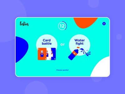 Festies! game ui design illustration colorful
