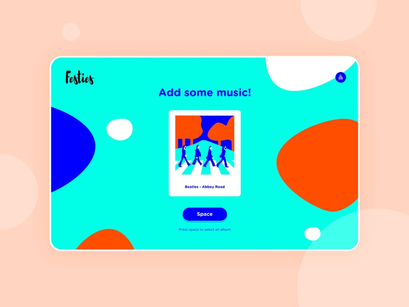 Festies! ui design illustration colorful music