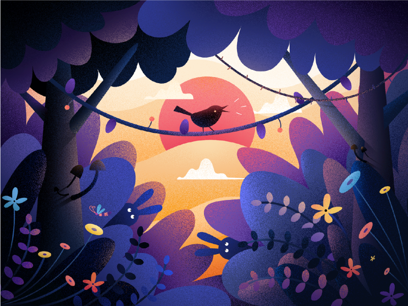 Little Bird fireart studio illustration