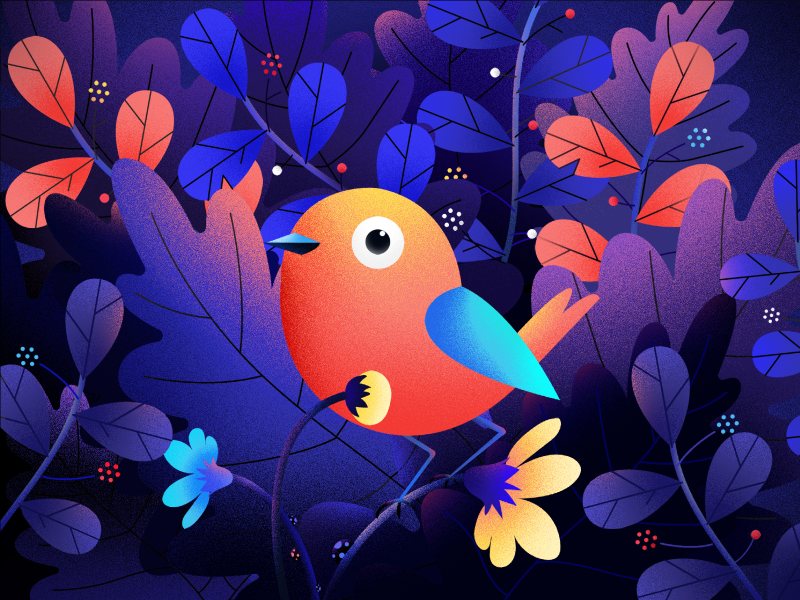 Little Bird bird fireart-studio illustration