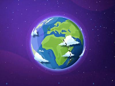 The Tale of Madagascar cloud vector blue light art galaxy world map world glob madagascar illustration
