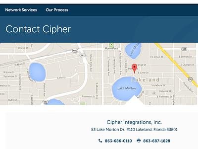 Cipher Integrations Website