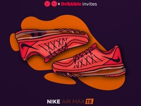 Dribbble invites- nike air max 15