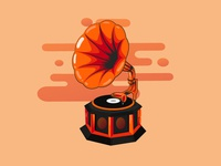 Gramophone - Illustration