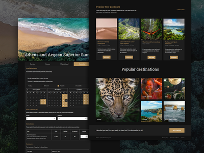 Luxury Tours WordPress Theme trip planner trip vacation luxury ux  ui gold dark travelling tour calendar booking system booking tourism travel agency tour operator tour booking themeforest travel wordpress theme wordpress