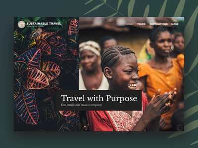 Sustainable Travel WordPress Theme concept organic green landing page homepage traveling hotel booking ecommerce tour booking travel agency booking system booking eco-friendly sustainability sustainable tourism themeforest travel wordpress theme wordpress