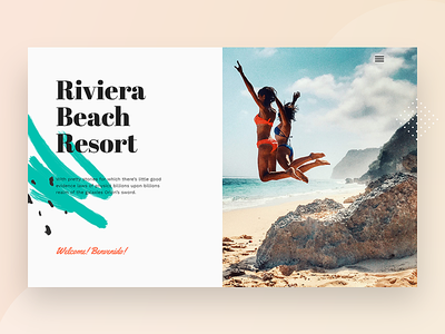 Beach Resort WordPress Theme holiday restaraunt responsive sea ux wordpress homepage landing page concept travel booking system booking rooms room booking hotel booking hotel restaurant water sports beach summer