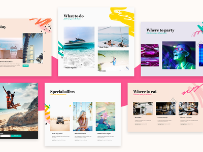 Beach Resort vacation holiday watersports tours sea colorful landing page homepage tourism booking system booking resort beach summer hotel branding hotel booking hotel travel wordpress theme wordpress