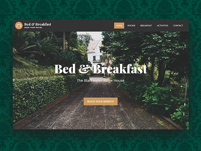 Bed and Breakfast WordPress Theme home guest house travel wordpress theme wordpress room booking rooms green booking booking system vintage damask branding hotel branding hotel hotel booking inn guesthouse bnb bed and breakfast