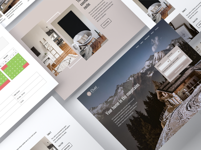 Chalet - Cabin - Cottage travel tourism rural gallery rooms winter skiing holidays website concept ux  ui calendar booking booking system vacation rental neutral mountain house cottage cabin chalet