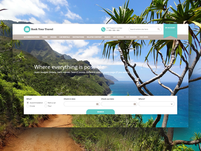 Book Your Travel - Online Booking WordPress Theme website concept home page landing page responsive tour operator tour guide themeforest timeless search car rental room booking tourism travel cruise rent a car travel agency tour booking hotel booking wordpress theme booking system