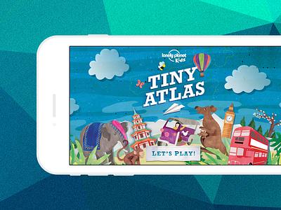 Tiny Atlas - intro screen game kids ios visual design marketing mobile