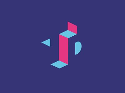 Trevor Denton Logo shape branding logo mark personal designer 3d negative space t d brand