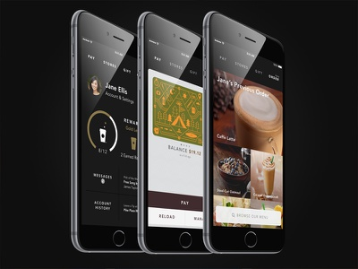 Starbucks App for iPhone 6 and 6 Plus trevordenton iphone6plus iphone6 ios8 ios starbucks