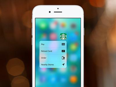 Starbucks 3D Touch 3d touch coffee ios starbucks