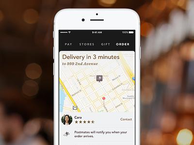 Starbucks Delivery postmates delivery starbucks ios
