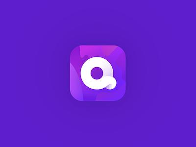 Quibi loop pink gradient wavy purple product design app app icon quibi quibi design logo branding illustration ios
