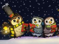 Owl carolers!