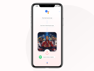 Music from Google Assistant alexa siri intelligence artificial logic player ios iphone spotify assistant google music