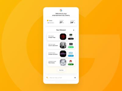 Google App - Entertainment Hub!