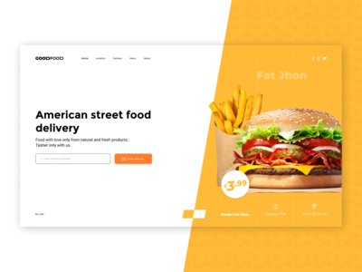 Order Street Food -  Main screen concept