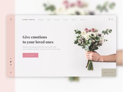 Flower shop - Main screen concept